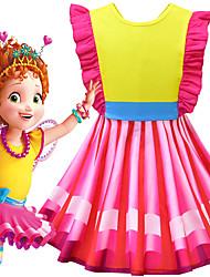cheap -Fancy Nancy Dress Cosplay Costume Girls' Movie Cosplay Cosplay Costume Party Vacation Dress Red Dress Polyster