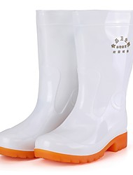 cheap -Men's PU Winter Boots Mid-Calf Boots White