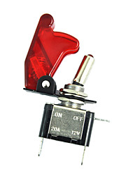 cheap -12V 20A 20Amp Red Cover LED Light Toggle Switch SPST ON/OFF Car Auto Boat Sales