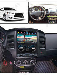 cheap -ZWNAV 10.4inch 1din Android 8.1 4GB 64GB Tesla style PX6 Car GPS Navigation car multimedia player Car MP5 Player radio tape recorder For Mitsubishi Lancer 2007-2017