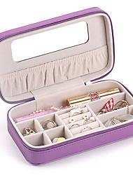 cheap -Jewelry Box - Leather Beige, Black, White 18 cm 10.5 cm 5.5 cm / Women's