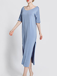 cheap -Women's Chemises & Gowns Nightwear Black Blushing Pink Blue L XL