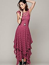 cheap -Women's Fuchsia Black Dress Sheath Solid Color S M
