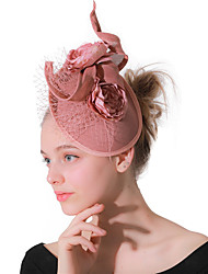 cheap -Headwear Wedding Polyester Fascinators / Hats / Headwear with Cap / Flower 1 Piece Wedding / Party / Evening Headpiece