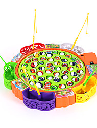 cheap -21 Fish and 4 Fishing Poles Rotating Fishing Toy Fish Music Magnetic Electric Plastics Kid's Toy Gift 1 pcs / Family Interaction