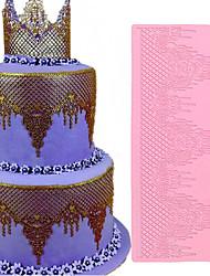 Недорогие -1 шт. Ювелирные изделия кружева коврик силиконовые помады кружева плесень свадебный торт декора