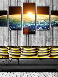 cheap -5 Panels Modern Canvas Prints Painting Home Decor Artwork Pictures DecorPrint Rolled Stretched Modern Art Prints Landscape Celestial