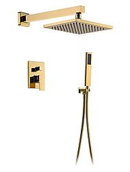 cheap -Shower Faucet - Brass Rain Shower Head Bathroom Shower System Wall Mount Gold Bathtub Mixer Tap