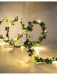 Недорогие -2м Гирлянды 20 светодиоды SMD 0603 1шт Тёплый белый День Благодарения / Рождество Водонепроницаемый / Для вечеринок / Декоративная Работает от USB / Аккумуляторы
