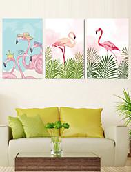 Недорогие -3 шт. Печать декоративной живописи масляной живописи дома декоративные настенные росписи на холсте отпечатки 40x60 см x 3 животных аннотация