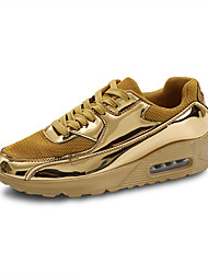 cheap -Men's Mesh Spring & Summer British Athletic Shoes Walking Shoes Height-increasing Gold / Silver / Square Toe