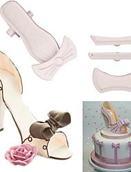 Недорогие -Туфли на высоком каблуке фондант торт плесень инструменты для украшения торта