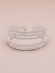 cheap -Women's Wrap Bracelet Beads Precious Sweet Fashion Rhinestone Bracelet Jewelry White For Wedding Party