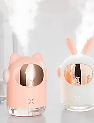 cheap -1pcs Space Bunny Humidifier 350ml Cute Rabbit Ultrasonic Cool Mist Maker Aroma Air Oil Diffuser Romantic Color LED Lamp Humidificador