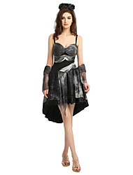 cheap -Ghostly Bride Outfits Party Costume Adults' Women's Halloween Halloween Festival / Holiday Polyster Black Women's Carnival Costumes / Dress / Headwear / Wristlet