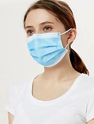 Недорогие -100 pcs CE Certificated Лицевая маска Одноразовая маска Одноразовые полотенца Защитные маски Нетканые Ткань выдувной фильтр Водонепроницаемый проведение Синий