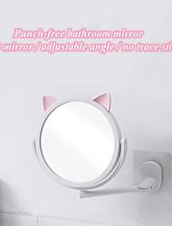 Недорогие -мультфильм кошка бесплатная штамповка зеркало для макияжа вращающийся принцесса украшения портативный туалетный столик круглое зеркало ювелирный стенд украшения дома стол