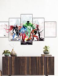Недорогие -AMJ Горячие продажи анимация серии пятистрочный живопись гостиная диван фон отделка стен холст для живописи бескаркасных живописи ядро