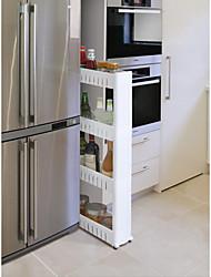 Недорогие -высококачественная передвижная трехслойная щелевая стеллаж для хранения бытовой кухни удобное использование