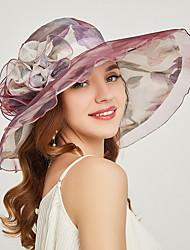 cheap -Women's Basic Mesh Sun Hat-Floral Print Wine Purple Blushing Pink