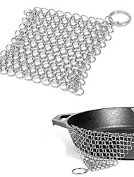 cheap -Stainless Steel Cleaning Brush Finger Cast Iron Cleaner Chain Mail Palm Brush Dirt Cleaning Scraper Kitchen Wash Tool