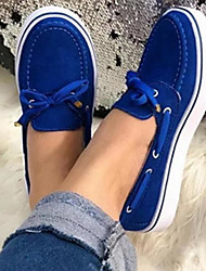 cheap -Women's Loafers & Slip-Ons Spring &  Fall Flat Heel Closed Toe Daily PU Yellow / Blue