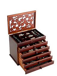 cheap -Square Jewelry Box - Wooden White, Brown 30.6 cm 20.6 cm 24.7 cm / Women's