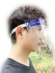 cheap -1PCS Double-sided Anti-fogging Anti-droplet PET Head Wearing Transparent Protective Helmet