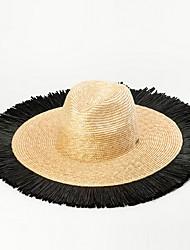 Недорогие -Солома Соломенные шляпы с С кисточками 1 шт. Вечеринка / ужин / на открытом воздухе Заставка
