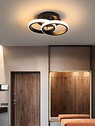 cheap -2-Light 24 cm Line Design Flush Mount Lights Metal Modern Style Painted Finishes LED Modern 110-120V 220-240V