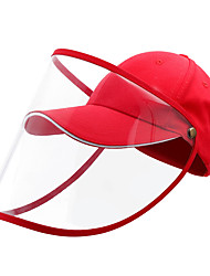 cheap -Protection Full Face Baseball Cap Transparent Hat Helmet Isolation Respirator Spittle Safety Work Protection Face Cap Anti Dust Anti Wind Dust Adjustable Removable-Red