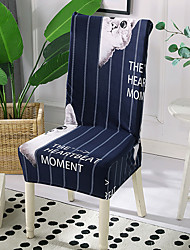 cheap -High Quality Printed Adorable Cat Spandex Chair Covers For Dining Room Chair Cover For Party Chair Cover For Wedding Living Room Chair Covers