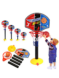 cheap -Basketball Toy Basketball Hoop Set Sports Basketball Indoor Height-Adjustable Plastic Iron Kid's Boys' Toy Gift