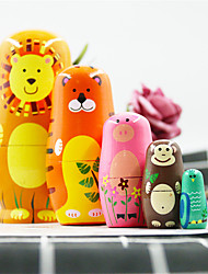 cheap -Russian Doll Classic Theme Wooden Tulle Lace Cute Creative Hand Painted Handmade Toy for Girl's Birthday Gifts  / Kids