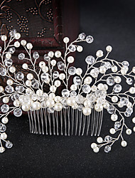 cheap -Women's Hair Jewelry For Wedding Engagement Party Wedding Geometrical Crystal Alloy White 1 pc