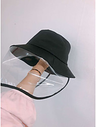 cheap -Unisex Basic Polyester Sun Hat-Solid Colored Black