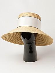 Недорогие -Солома Соломенные шляпы с С плетеными ремешками 1 шт. Повседневные / на открытом воздухе Заставка