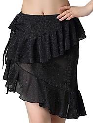 cheap -Belly Dance Bottoms Women's Performance Polyester Pleats / Cascading Ruffles Skirts