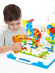 cheap -Building Blocks Educational Toy Construction Set Toys Screw Toy Drill Set 237 pcs Family Bolster compatible Plastic Shell Legoing Electronic DIY Hand-made Boys and Girls Toy Gift / Kid's
