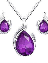 cheap -Women's Jewelry Set Elegant Fashion Earrings Jewelry Purple / Red / Blue For Festival 1 set