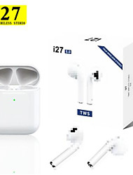 cheap -i27 TWS Wireless Headphones 1 to 1 Replica Bliuetooth Earphone Pop Up Headset 11 Air Touch Control Earbuds for Xiaomi iphone Phone