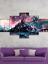 cheap -AMJ Hot Selling Fantasy Castle Landscape Pentathlon Living Room Sofa Background Wall Decorative Canvas Picture Frameless Core