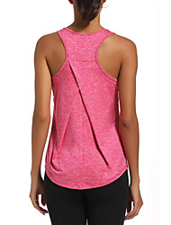 cheap -Women's Yoga Top Yoga Shirt Solid Color Black Dark Grey Purple Red Blue Cotton Running Fitness Gym Workout Tee / T-shirt Tank Top Sleeveless Sport Activewear Lightweight Breathable Comfort Quick Dry