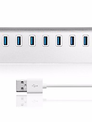 cheap -LITBest 7 Port USB 3.0 Hub Portable Aluminum Data Hub 3-Foot USB 3.0 Cable Portable Alumium Alloy Hub USB 3.0 Hub