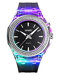cheap -SKMEI Women's Quartz Watches Quartz Modern Style Novelty Fashion Water Resistant / Waterproof Analog White Black Blue / One Year / Silicone / Luminous / One Year