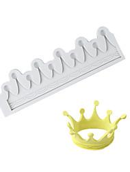 Недорогие -3d корона шоколад плесень фондант торт силиконовые формы инструменты для домашней выпечки