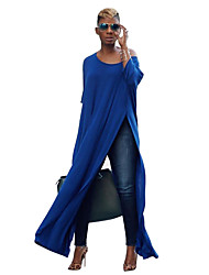 cheap -Women's Daily Casual Shift Dress - Solid Color Split Black Blue Red S M L XL