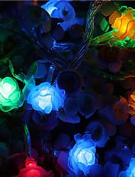 cheap -LED Rose Lantern Flashing String Lights Starry Sky Lights USB Battery Bedroom Lights String Wedding Room Decoration Lights