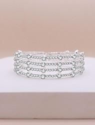 cheap -Women's Tennis Bracelet Wrap Bracelet Layered Precious Trendy Sweet Rhinestone Bracelet Jewelry White For Wedding Party Engagement