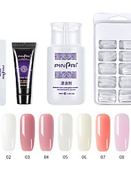 cheap -Poly Nail Gel Kit Nail Extension Builder Gel Full Cover Nail Tips Nail Art Tool Nail Professional Nail Salon Easy DIY for Beginner at Home All-in-One Kit Gift Set